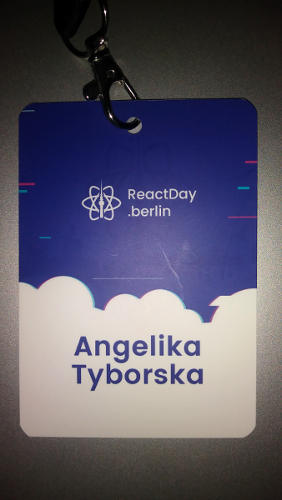 An attendee conference pass for React Day Berlin